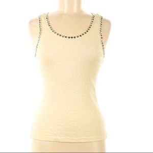 Streets ahead Jeweled front ribbed stretch tank